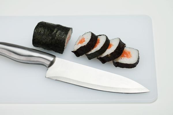 cuchillo sushi comida japonesa