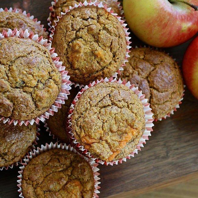 Receta: muffins de manzana, nueces y quinoa