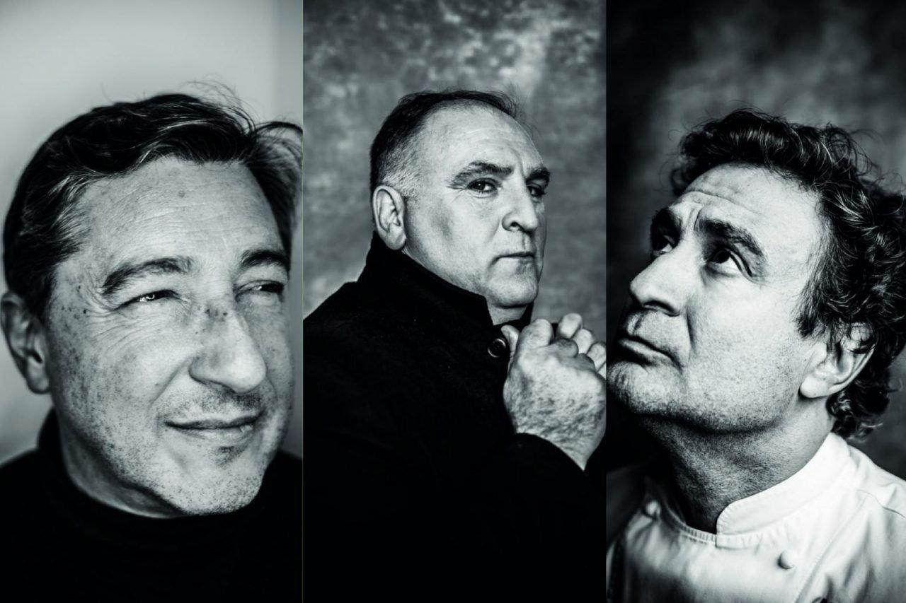 Los chefs Joan Roca, José Andrés y Pepe Rodríguez Rey