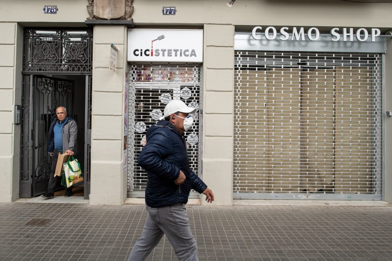 Calle de Barcelona durante la crisis sanitaria del coronavirus