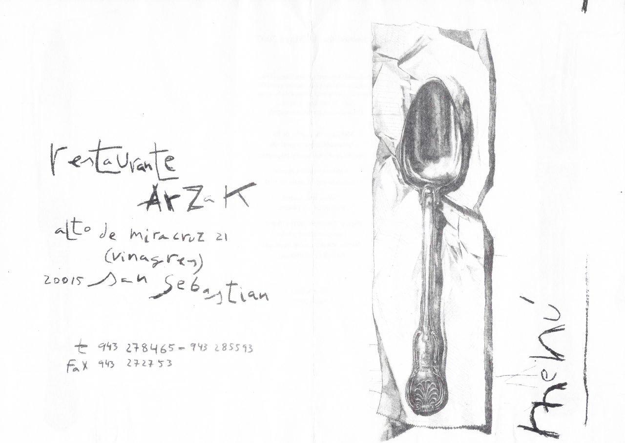 Carta de amor - Arzak
