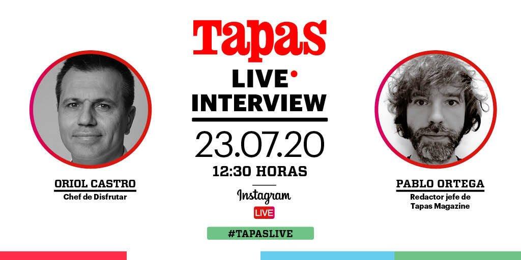 Tapas Live Oriol Castro - chef del restaurante Disfrutar