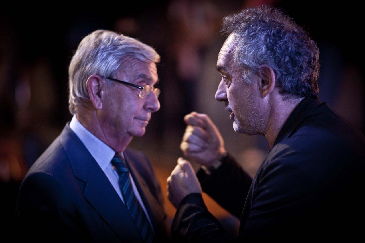 Rafael Ansón (Real Academia de Gastronomía) y Ferran Adriá