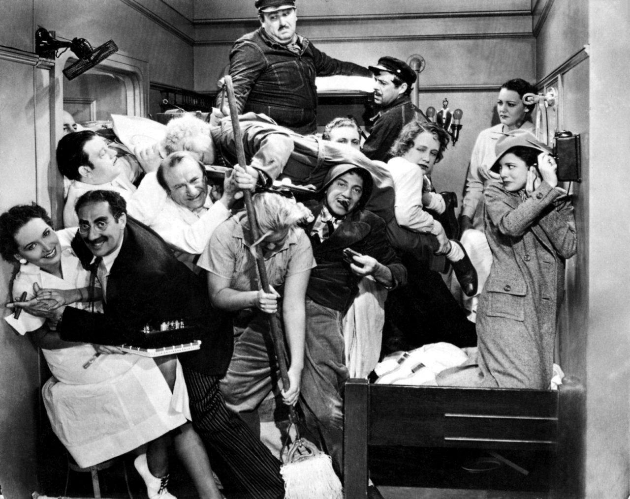 camarote de los hermanos Marx, de la película Una noche en la ópera