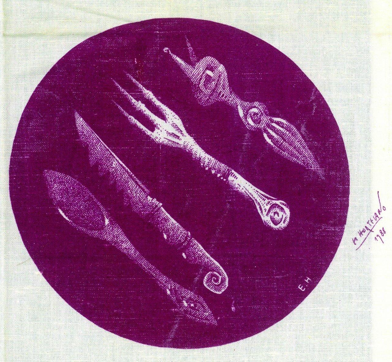 Mantel pintado por El Hortelano