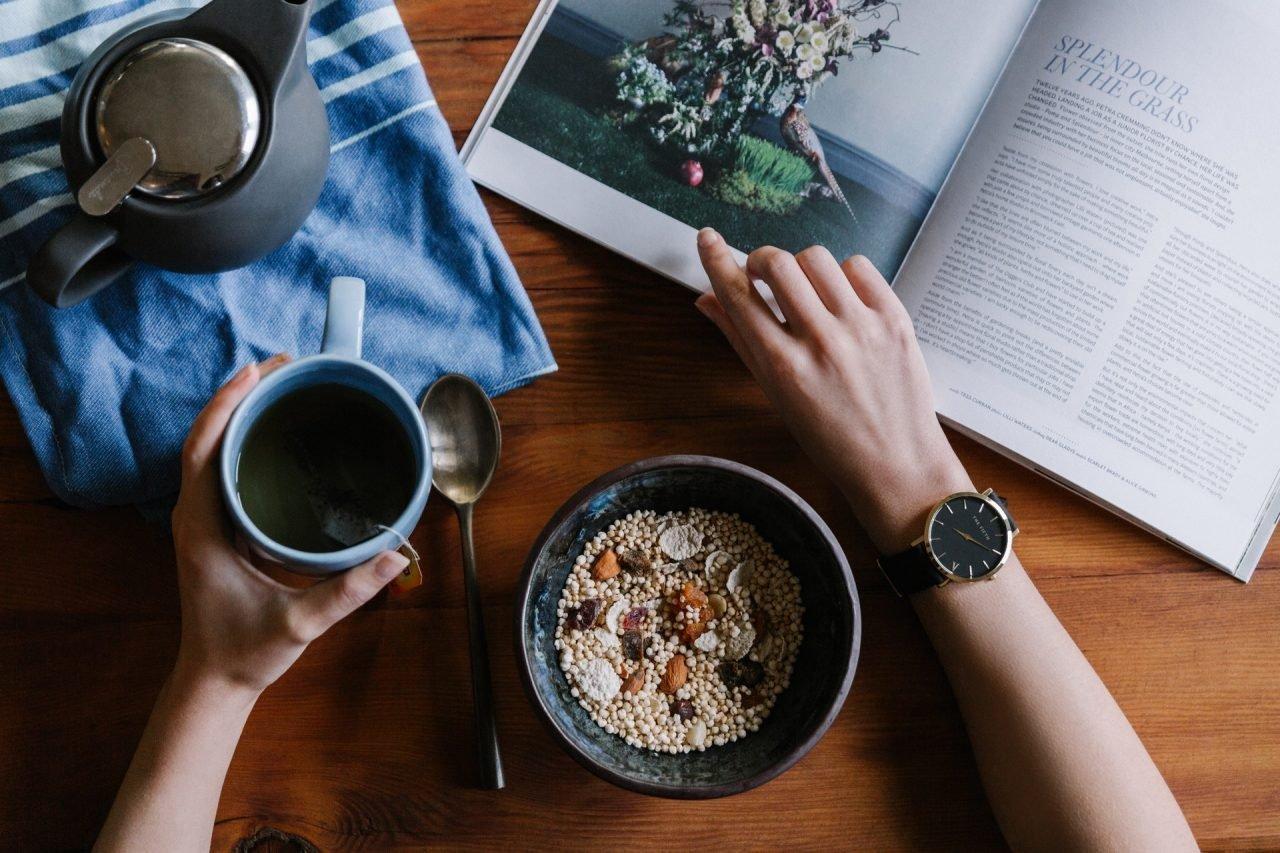 Lectura y comida