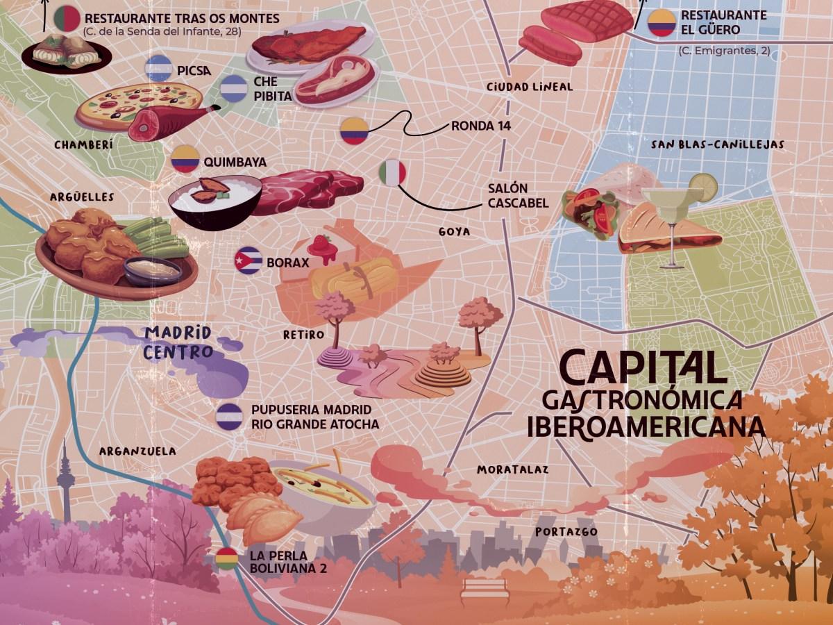 Mapa Madrid Iberoamerica