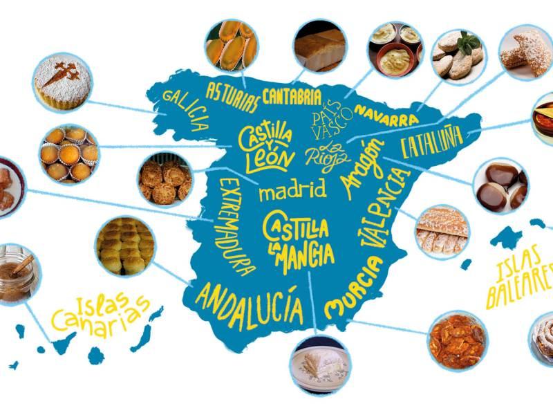 mapa postres tipicos